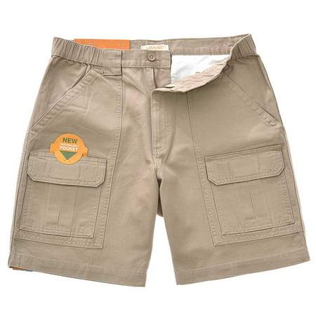 Savane Men's UPF 30 Comfort Hiking Cargo Shorts w/Tech