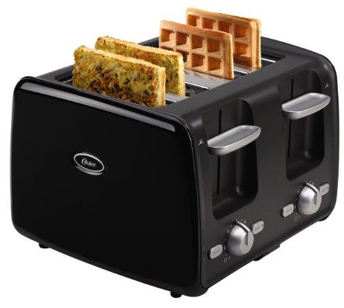 Tostadora Oster 3905 4-Slice Retractable Cord Toaster, Black + Oster en VeoyCompro.net