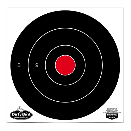 "Dirty Bird® 8"" - 25 Bull's-eye Targets - 25 sheets"