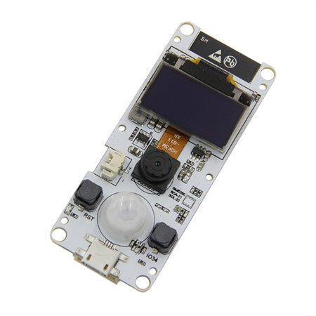 ESP32 Camera Module T-Camera ESP32 WROVER PSRAM Camera Module 4MBytes SPRAM ESP32-WROVER-B OV2640 Camera Module with 0.96 Inch OLED OLED T-Camera ESP32 WROVER PSRAM Camera Module ESP32-WROVER-B OV2640 Camera Module Fisheye LensFeatures:* 100 % brand new new and high quality.* It is a module based on the ESP32 chip.* T-Camera ESP32 WROVER with PSRAM Camera Module OV2640 Camera 0.96 OLED.* It can be used for voice coding, audio streaming and MP3 decoding.* Powerful and versatile.Description:* Size: 19*15*5cm* Color: As the picture* Use: Instruments* Service: WROVER with PSRAM Camera Module OV2640 Camera 0.96 OLED.* Application area: Internet of Things IoTPackage included:1 * Camera Accessory