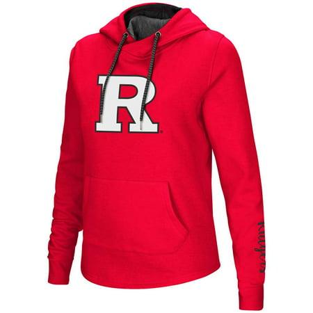 Rutgers Scarlet Knights Women's Colosseum Crossover Neck Hoodie (Dark Knight Hoodie)