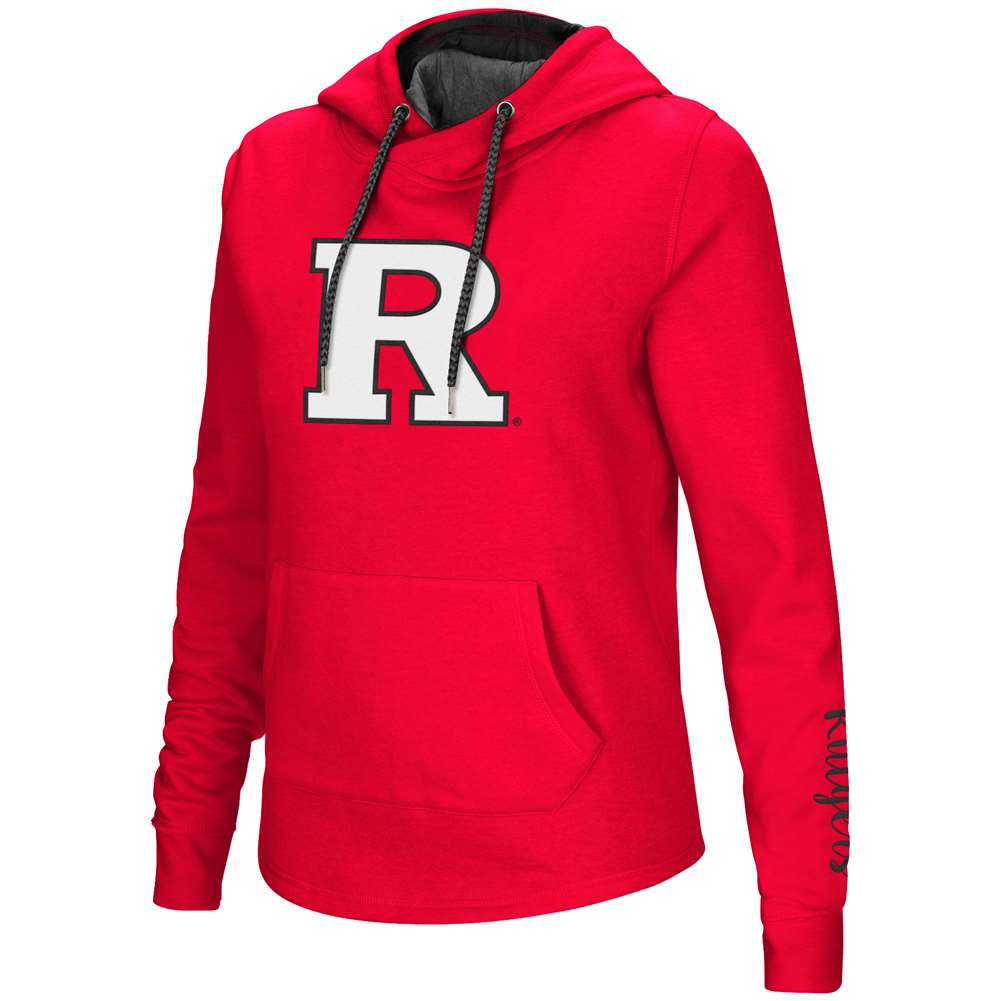 Rutgers Scarlet Knights Women's Colosseum Crossover Neck Hoodie
