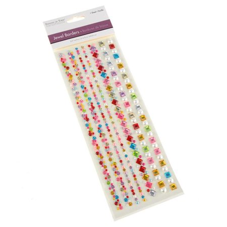 Perfect Pearls Jewels (Self Adhesive Gemstone & Pearl Medley, 7 Strips, 10-inch )
