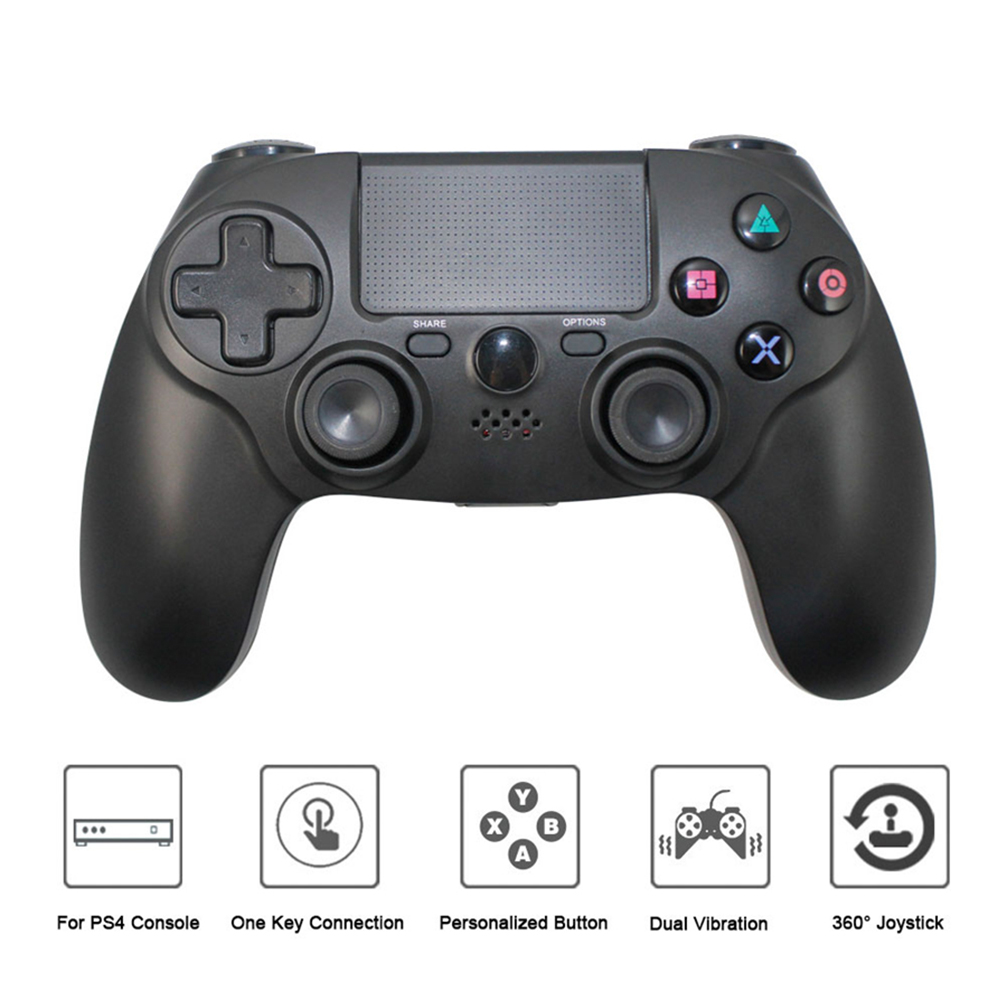 ALLCACA PS4 Controller Skin 4 Pack Combo ABS Protective Grip for Sony PlayStation 4 Wireless Dualshock Game Controllers