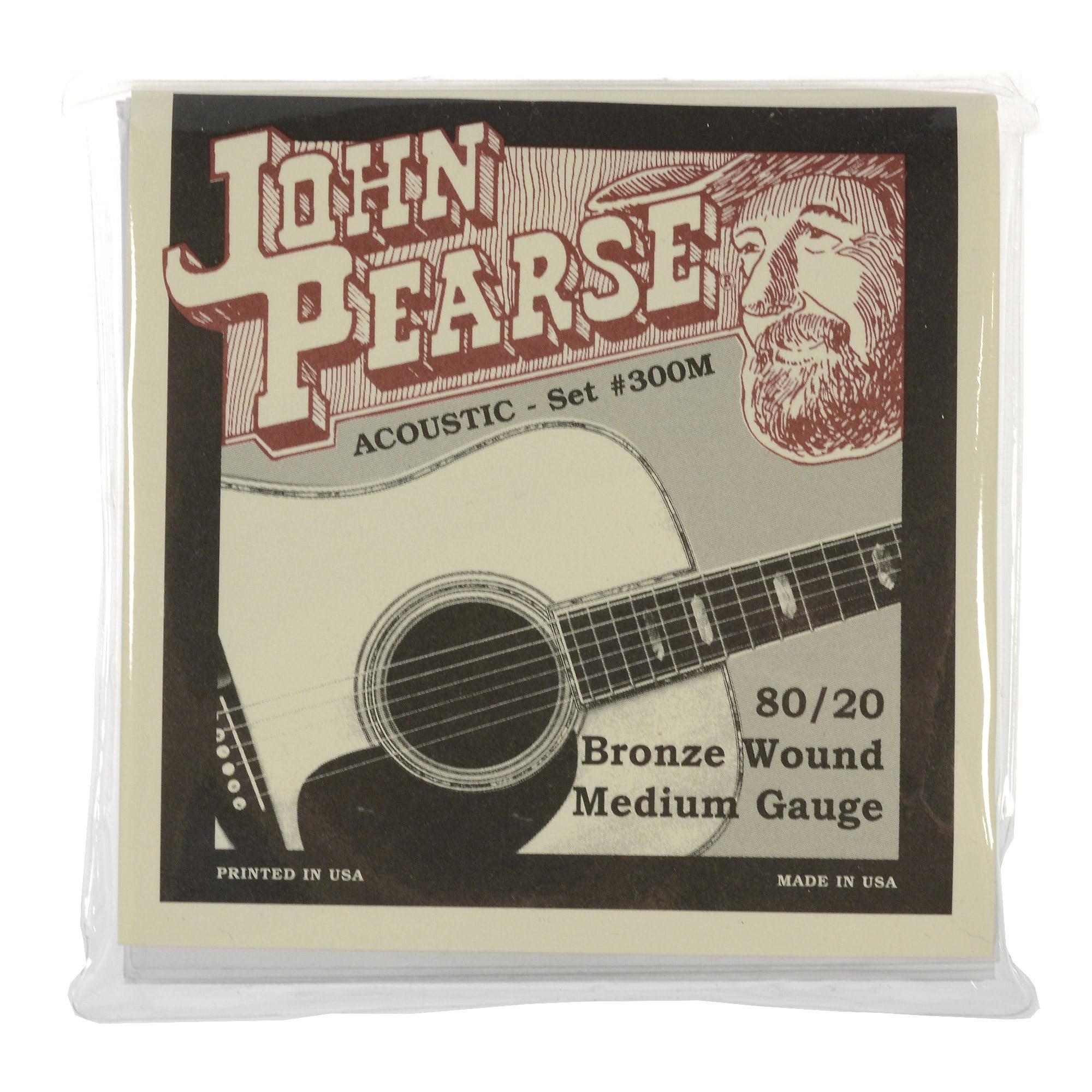 John Pearse Medium Gauge 80 20 Bronze Strings by John Pearse