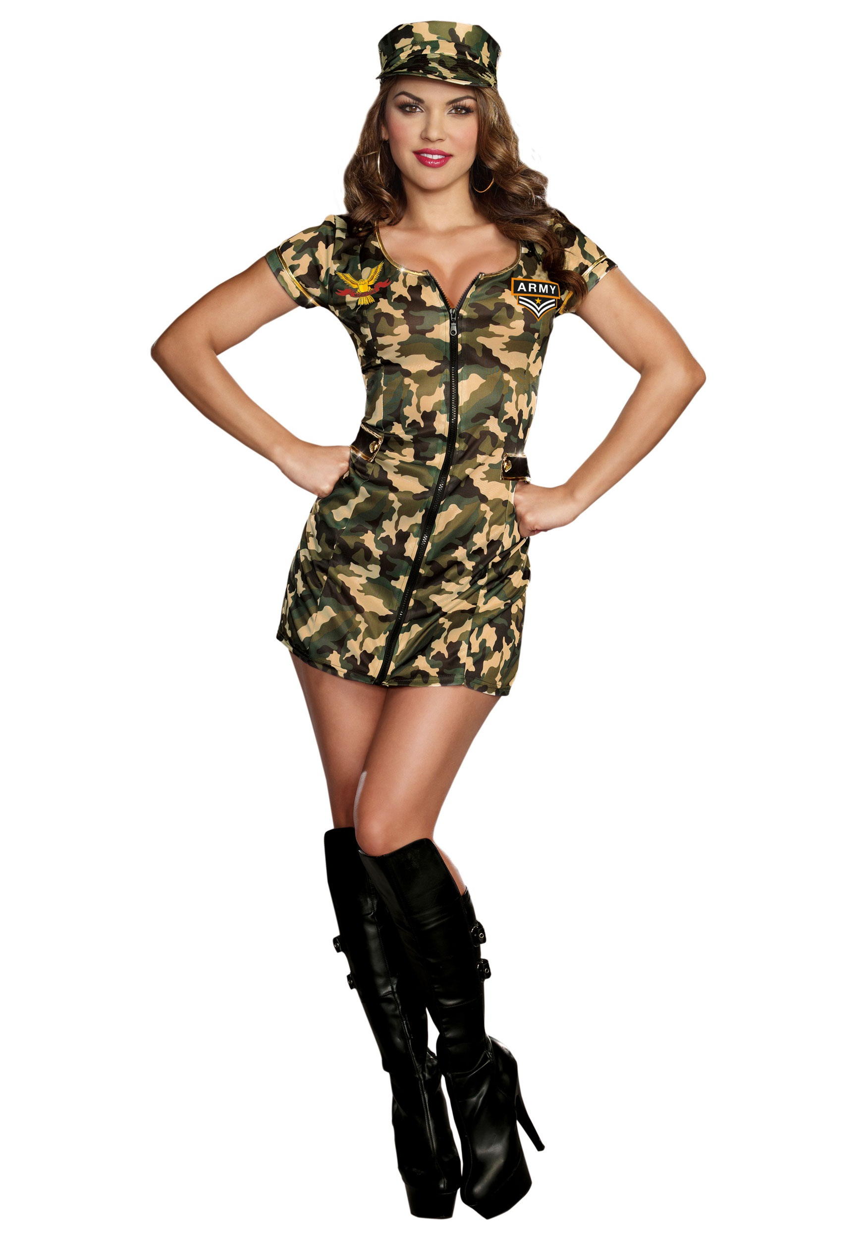 9b7d9495d1b6a Army Lady Costume & Image Is Loading Army-Girl-Costume-Adult-Sexy ...