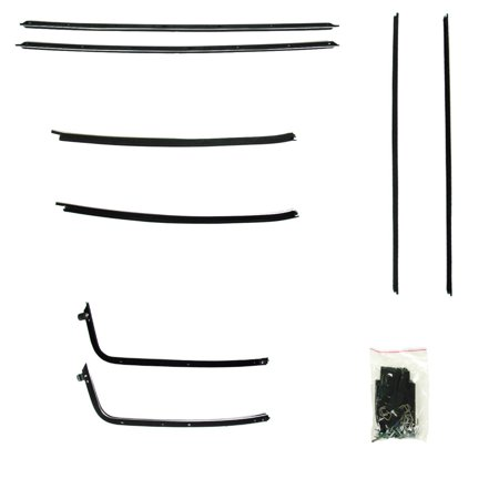 Hardtop Rear Window Molding (1970-1972 Chevrolet Chevelle 2 door hardtop window sweep seals belt line)