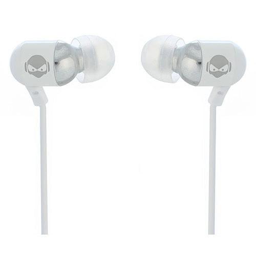 Subjekt Rave Bass-Enhanced Ear Buds, White