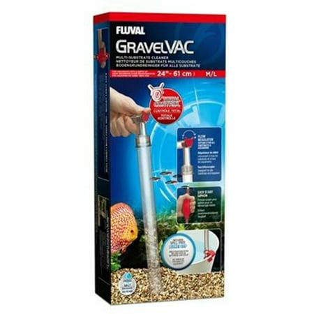 Fluval Gravel Vac Multi-Substrate Cleaner, Medium/Large (Gravel Vac Cleaner)