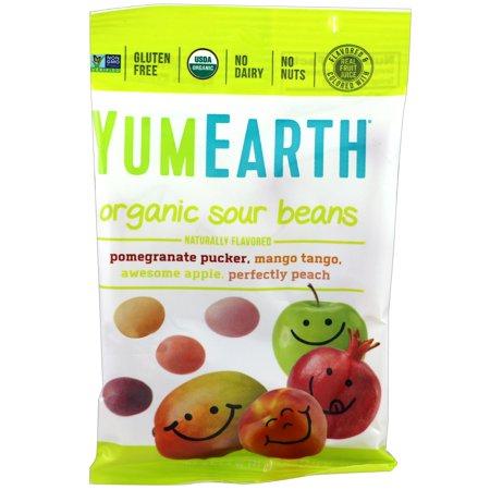 YumEarth  Organic Sour Beans  12 Packs  2 5 oz  71 g  Each