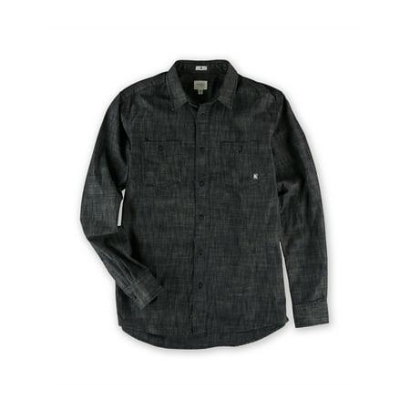 AMBIG Mens The Silas LS Button Up Shirt indigo M - image 1 of 1