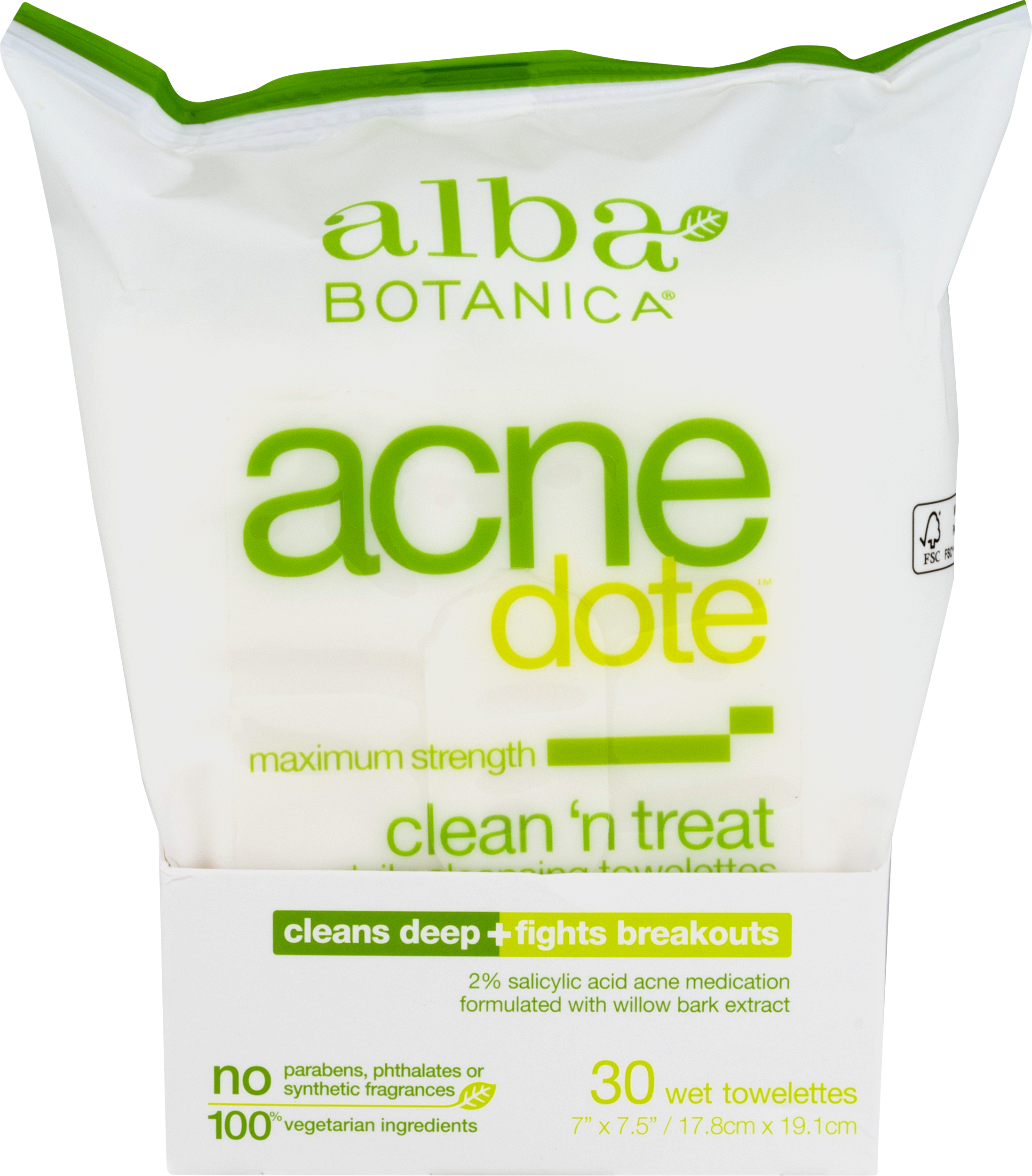 Alba Botanica - Natural ACNEdote Clean n Treat Towelettes - 30 Towelette(s) (pack of 4) GMC Medical Purifying Cleansing Gel 6.8oz