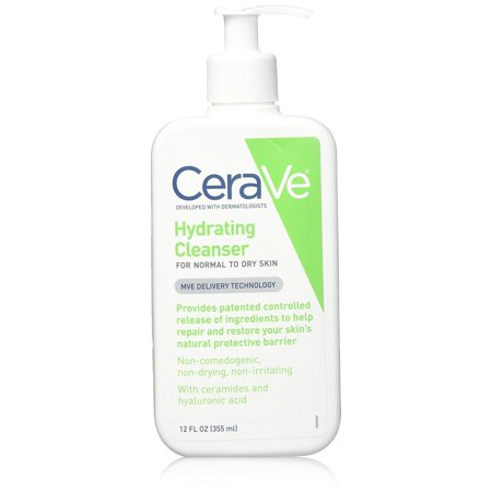 CeraVe Hydrating Facial Cleanser 12 oz for Daily Face Washing, Dry to Normal (Best Face Wash For Radiant Skin)