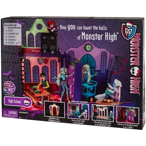 "Monster High Ghouls Rule High School 10.5"" Doll Playset"