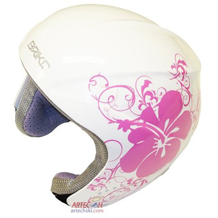 Atomic Junior Skis (Briko Rookie Junior Ski Helmet (Pink Hibiscus, 52cm))
