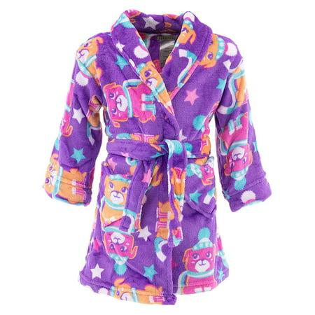 Komar Kids Girls Purple Pup Velvet Fleece
