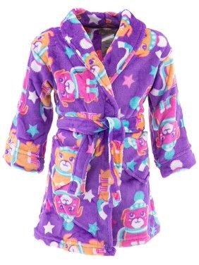 Product Image Komar Kids Girls Purple Pup Velvet Fleece Bathrobe d73bd2dd2