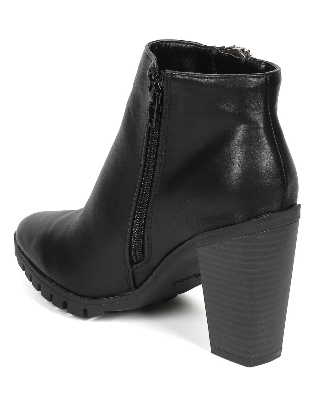 New Women Qupid Wicker-01 Leatherette Pointy Toe Oversized Zipper Ankle Bootie