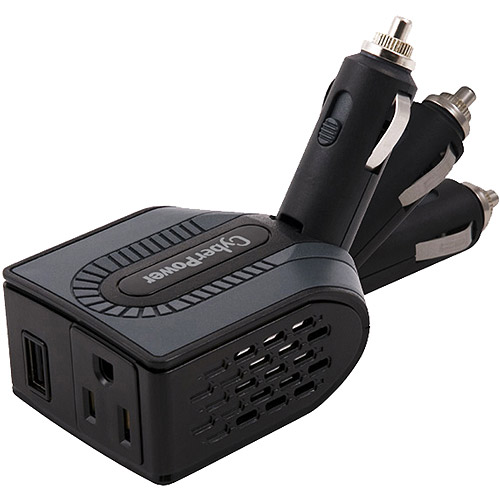 Cyber Power 100W Mobile Power Inverter With USB Charger, Swivel Head