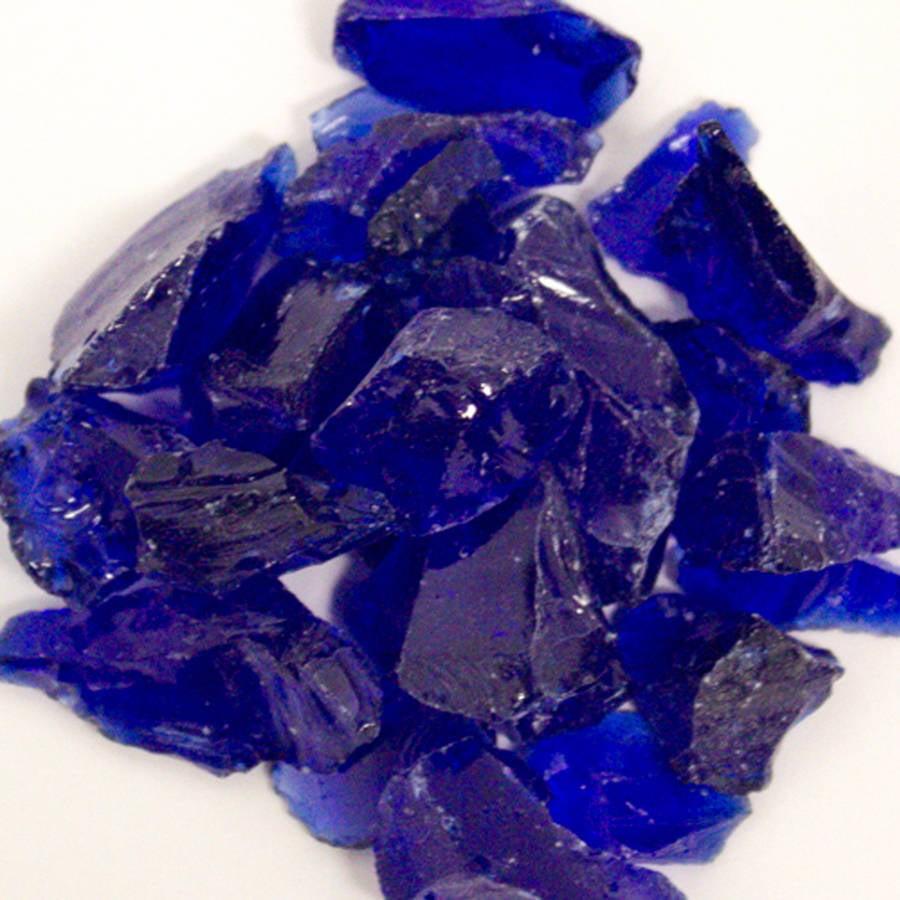 Hiland Cobalt Blue Recycled Fire Glass, 10 lbs