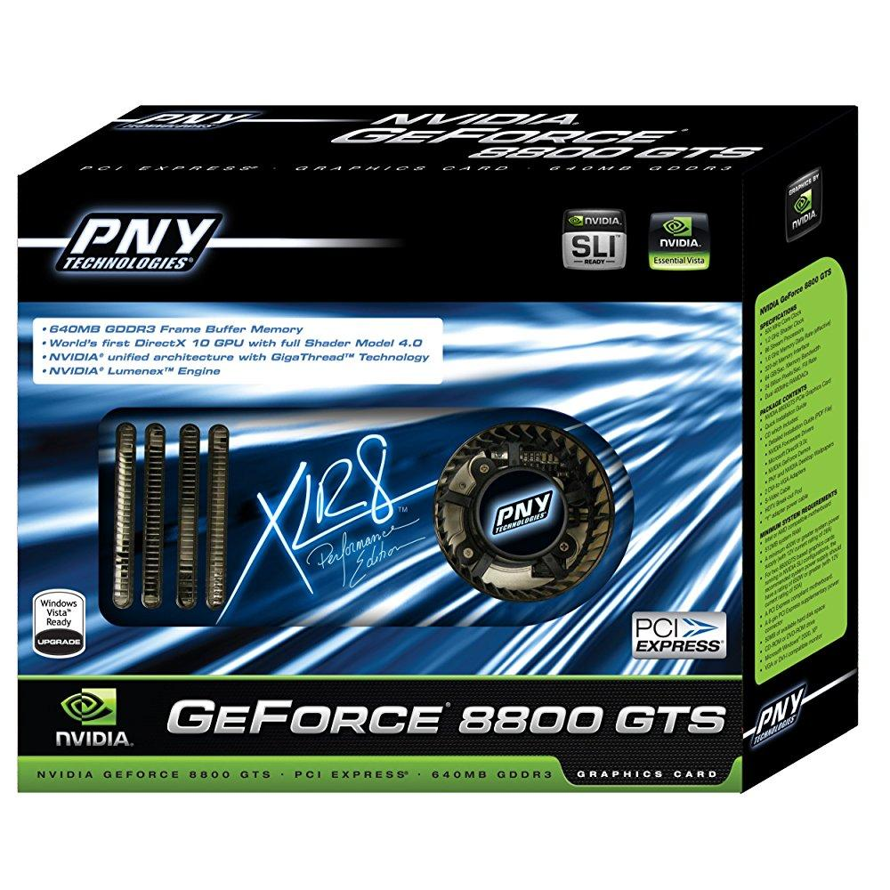PNY vcg88gtsxpb geforce 8800 gts 640mb graphics card