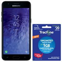 Tracfone Samsung J3 Orbit, 16GB Black - Grade A Refurbished Prepaid Smartphone with $20 Plan