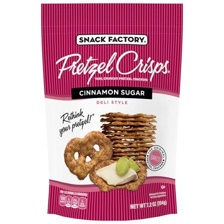 Snack Factory Pretzel Crisps Cinnamon Sugar, 7.2 Ounce