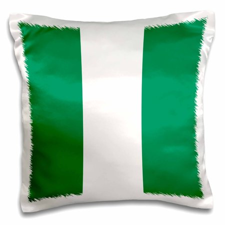 Patriotic Strips - 3dRose Flag of Nigeria - Nigerian green white stripes - Africa African country world patriotic souvenir - Pillow Case, 16 by 16-inch
