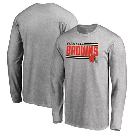 Cleveland Browns NFL Pro Line by Fanatics Branded Iconic Collection On Side Stripe Long Sleeve T-Shirt - Ash (Nfl Stripe)