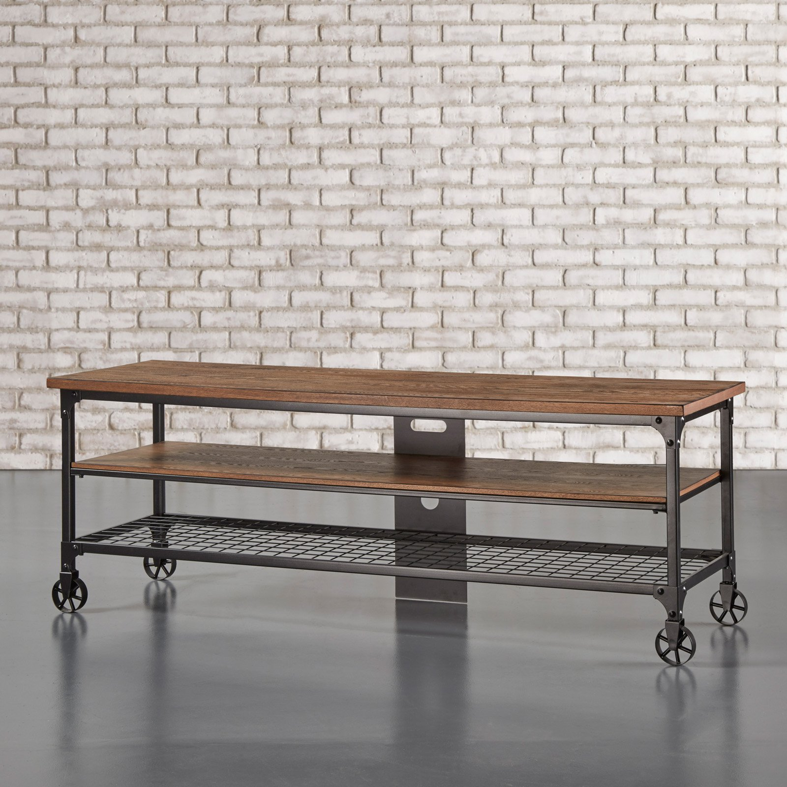 Weston Home Millwood Industrial TV Console Table