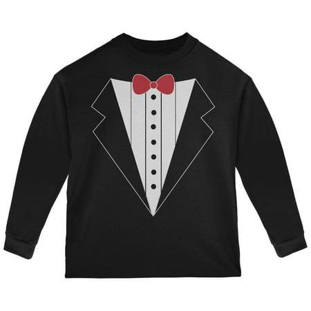 Halloween Tuxedo Costume Black Toddler Long Sleeve T-Shirt (Halloween Costume Ideas Black T Shirt)