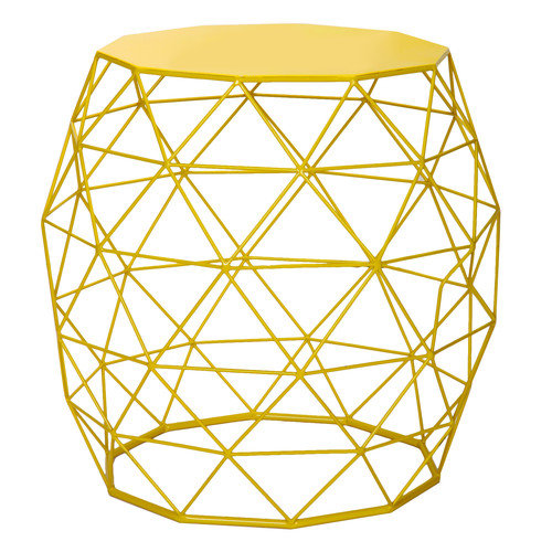Adeco Trading Home Garden Accent Wire Round Stool