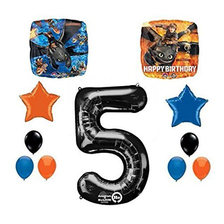 NEW How to Train Your Dragon 5th Birthday Party Supplies and Balloon - Dragon Balloons
