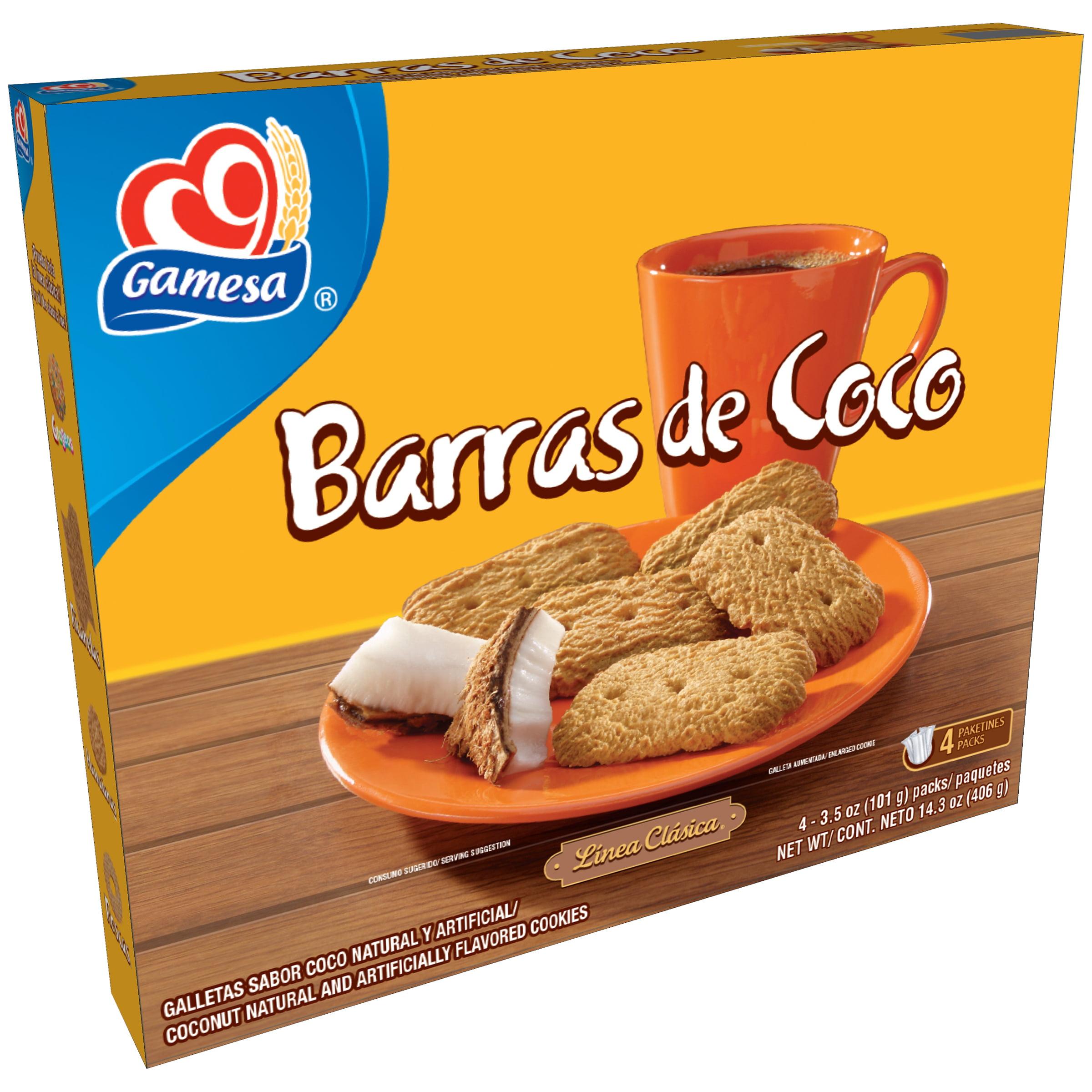 Gamesa Barras de Coco Coconut Cookies, 3.5 Oz., 4 Count