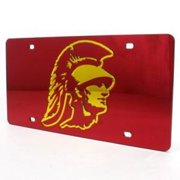 Usc Trojans Inlaid Acrylic License Plate - Red