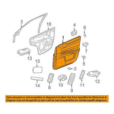 Dodge chrysler oem 2010 charger front door interior trim - 2010 dodge charger interior trim ...