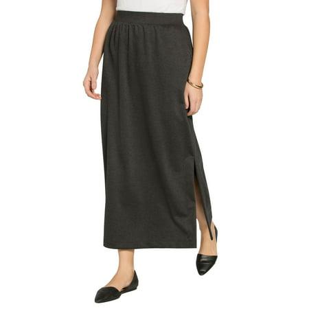Woman Within Plus Size Stretch Ponte Maxi Skirt