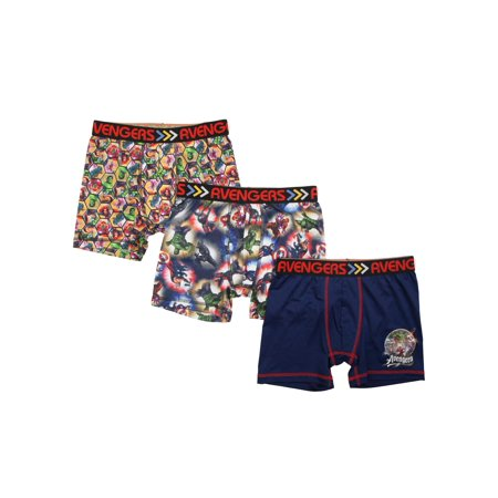 461bc783c The Avengers - Boy's Marvel Avengers Poly Boxer Briefs, 3 Pack - Walmart.com