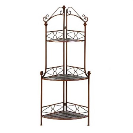 Zingz & Thingz 57070249 Rustic Corner Bakers Rack