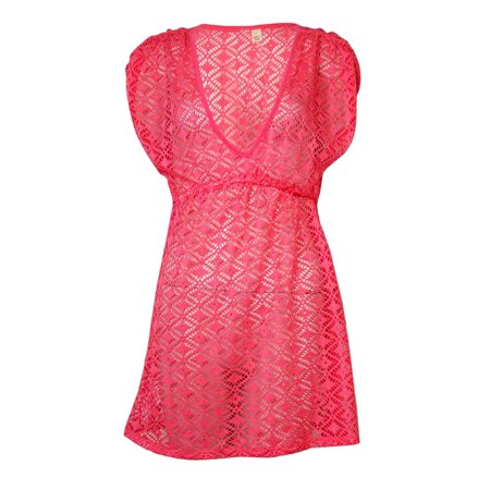 f4382c8ecd70f MIKEN - Miken Women s V-Neck Crochet Dress Swimsuit Cover - Walmart.com