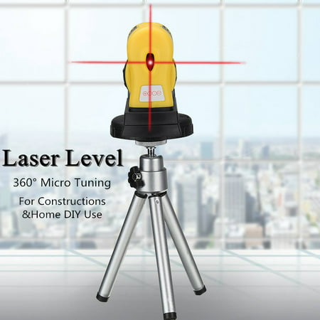 360° Rotary Laser Level 4 In 1 Multifunction Self-Levelling 2 Cross Line Infrared Vertical Horizontal Measure Tool Micro Tuning Professional Automatic for Home Improvement