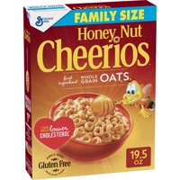 General Mills, Honey Nut Cheerios Gluten Free Breakfast Cereal, Family Size 19.5 oz