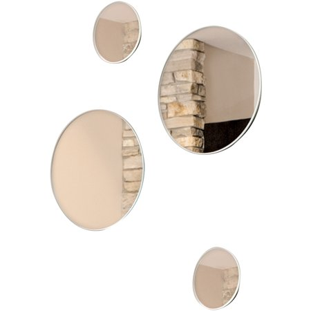 """Nayla 4-Piece Round Decorative Wall Mirror Set, Two 3"""" and ..."""