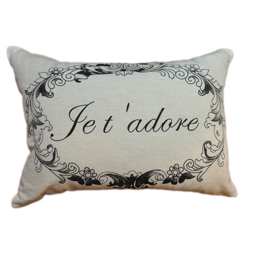 Amity Home Je T 'Adore Linen Decorative Pillow
