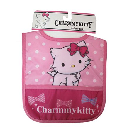 ffc03f0be Sanrio Charmmy kitty Girls Pink Infant Bib  5013  - Walmart.com