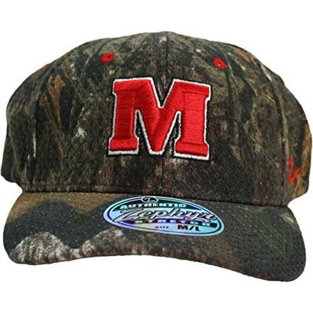 Maryland Terrapins Mossy Oak Adult Flex Fit M/L Camo Hat Cap (Maryland Camo Hat)