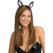 Clip-On Cat Ears Adult Halloween Accessory