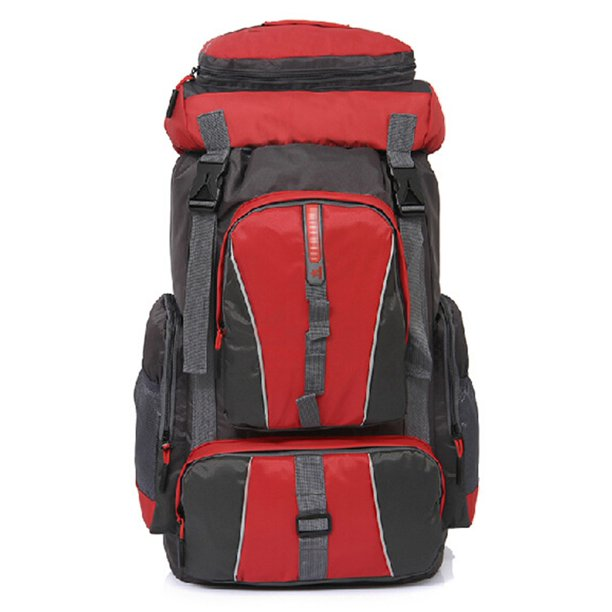 Large Capacity Outdoor Sports 50L Backpack Laptop Mountaineering Bag - Red
