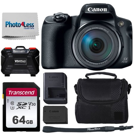 Canon PowerShot SX70 HS + 64GB Memory Card + Camera Case Best Value (Best Price On Canon T5i Bundle)