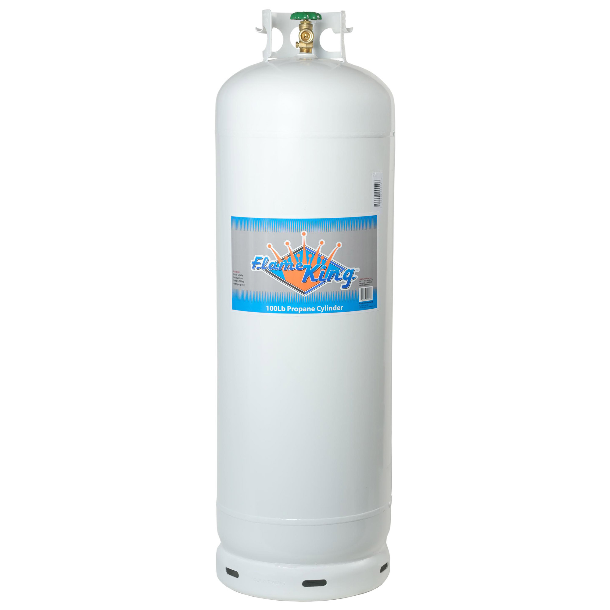 Flame King 100 lb Empty Steel Propane Cylinder with POL V...